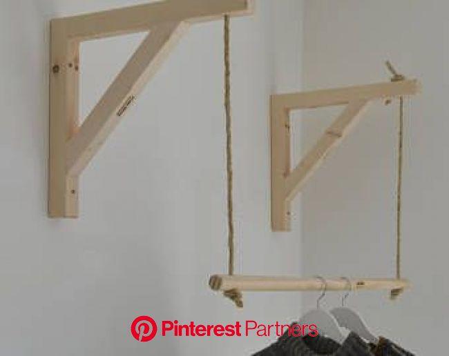 Hanging ,Pair of Shelf Brackets, Shelf Brackets and Ladder, Shelf Brackets and Rail ! | Clothing rack, Wood clothes rack, Wood clothes