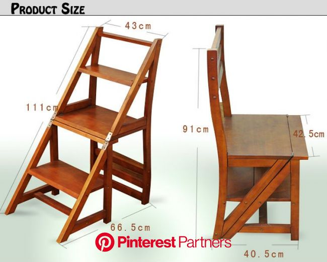 Silla escalera | Diy wood projects furniture, Wood furniture diy, Furniture projects