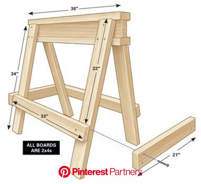 Sawhorse Plans | Sawhorse plans, Woodworking, Woodworking projects