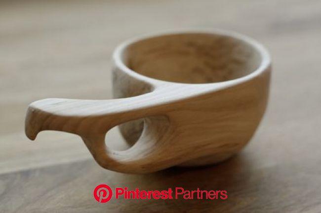 Kuksa, apple wood cup by Hanna Kaketti | Wood spoon carving, Wood turning, Wood bowls