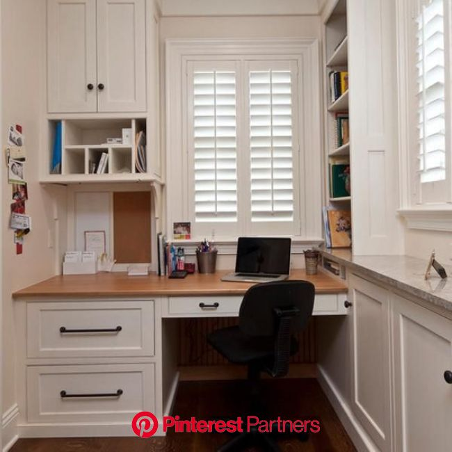 Space Saving Built in Office Furniture in Corners Personalizing Modern Interior Design | Small home offices, Office interior design, Home office furni