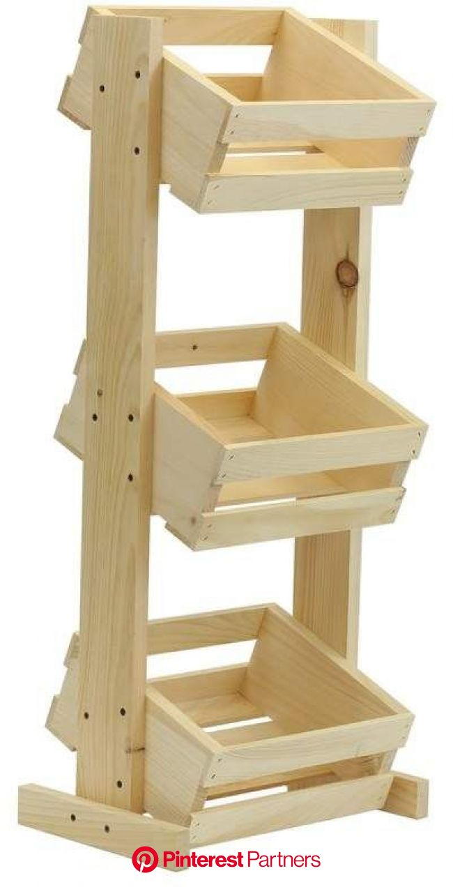 Crates & Pallet 3 Tier Solid Wood Crate Stand | Diy furniture plans wood projects, Wood crates, Wood diy