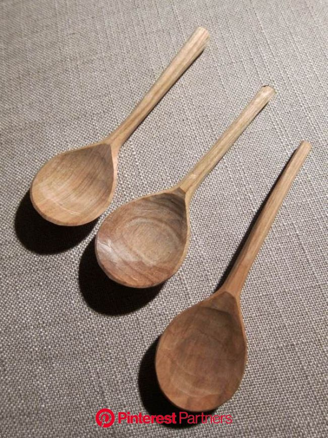 Barn the Spoon's versions of the Medieval London spoon in cherry. | Wood spoon carving, Wooden spoon carving, Hand carved wooden spoons
