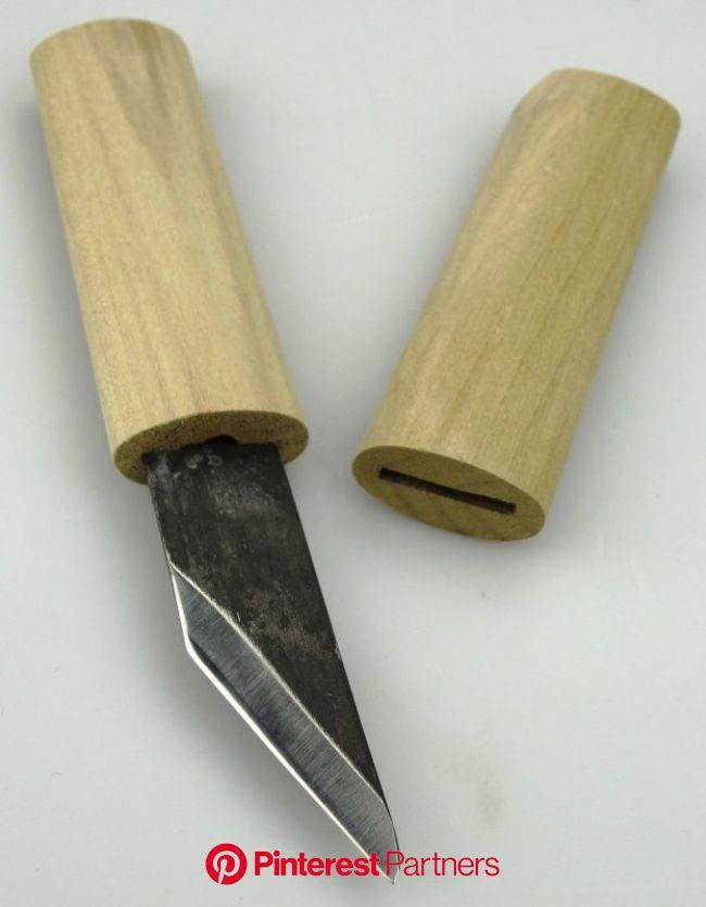 Baishinshi Kunimitsu Syukou kogatana + saya | Handgemaakte messen, Messen, Houtbewerking