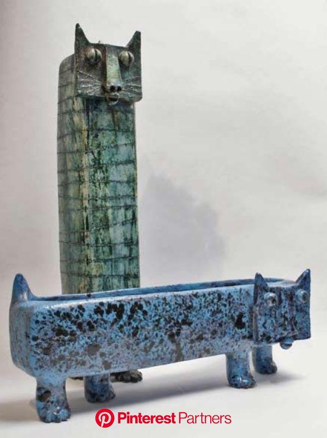 Cats and dogs - figurines, art and photos | Pottery art, Ceramics, Ceramic sculpture