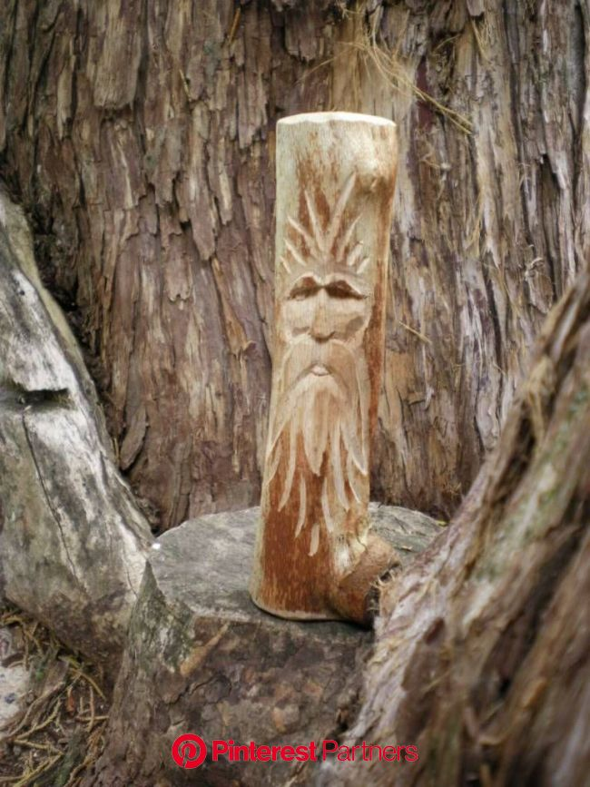Wood Spirit Carving Tutorial (very pic heavy) | Simple wood carving, Wood spirit, Wood carving patterns