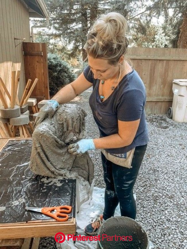 DIY Cement Ghoul's - Modern Simplicity | Halloween outdoor decorations, Cement, Creepy halloween decorations