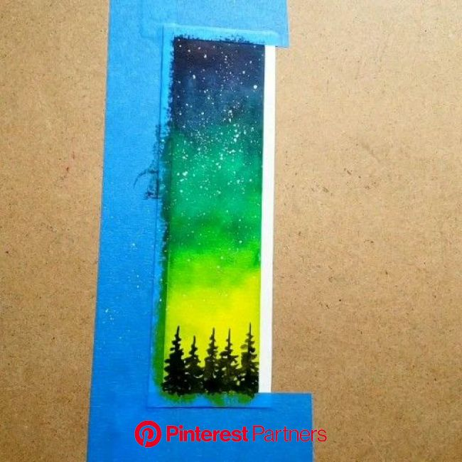 #nightsky #galaxy #watercolor [Video] in 2020 | Watercolor bookmarks, Galaxy painting, Watercolor galaxy