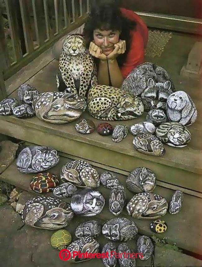Pin de Monica Ogren em Art | Artesanato com pedras, Pintura em pedras, Arte com pedras