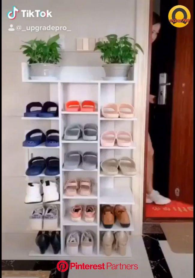 Dormitory Shoe Rack Household [Video] | Diy furniture, Home decor shelves, Wood shoe rack