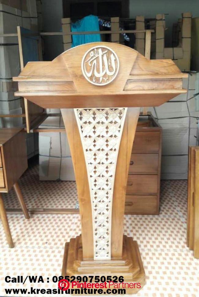 Mimbar Podium Masjid - KREASI FURNITURE JEPARA | Church furniture design, Church furniture, Masjid