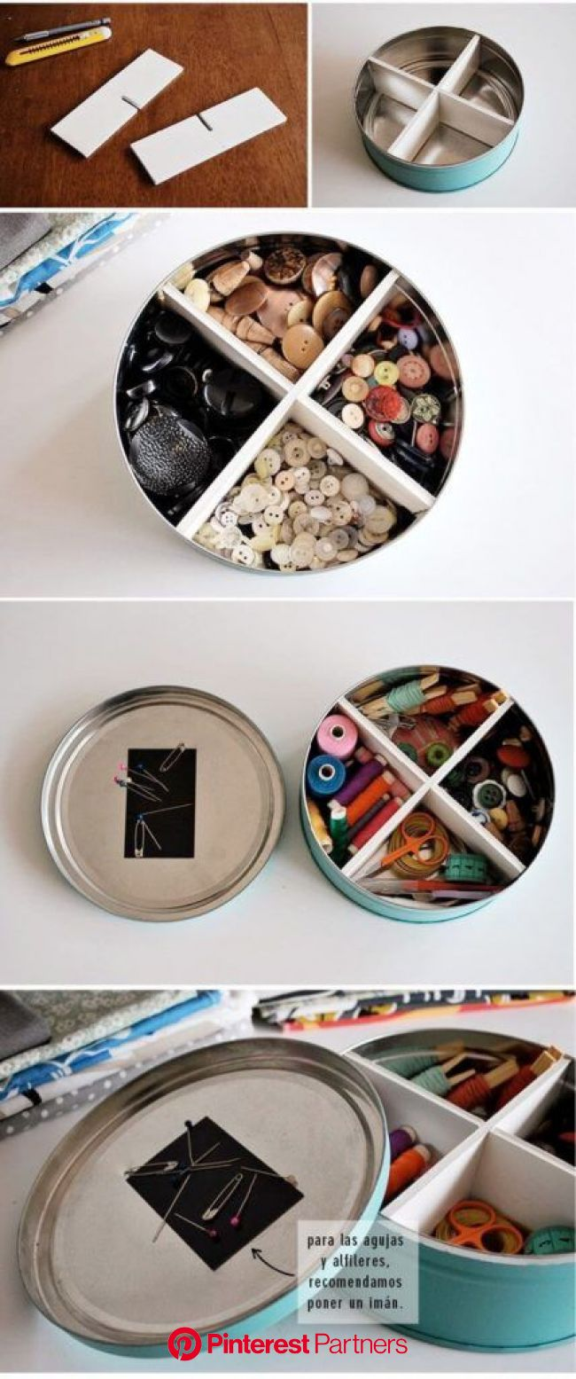 13 Resourceful Ways to Organize All the Small Things In Your Home | Organisation de l'artisanat, Déco d'intérieur artisanale, Kit de couture
