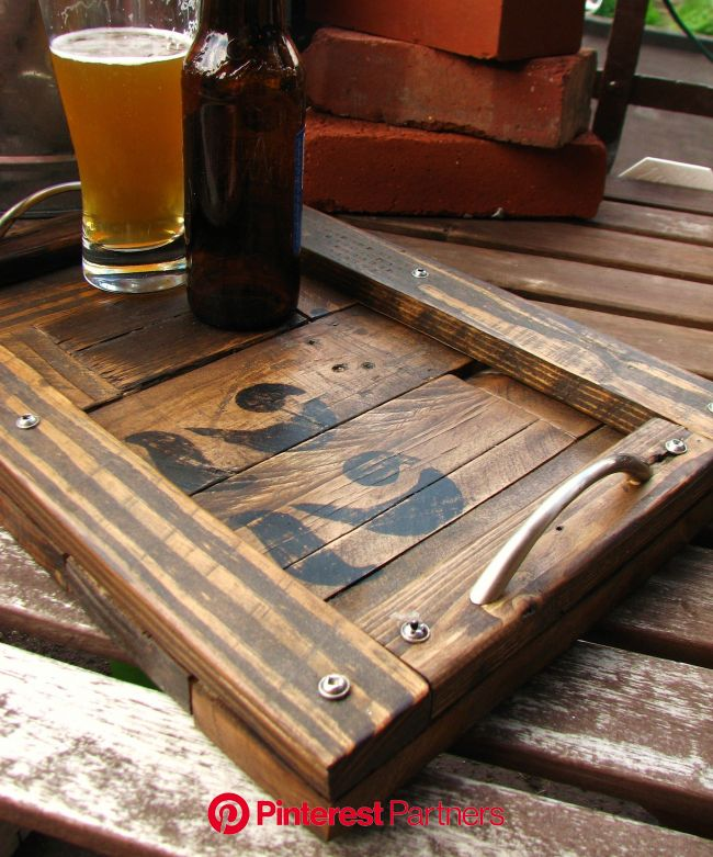 Pin by LAThriftJunkie on Cheese/Bread/Serving Boards | Pallet tray, Wood pallets, Wood pallet projects