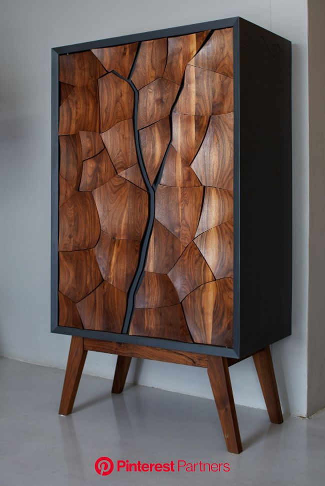 Mud Drinks Cabinet - Contemporary Organic Cabinets - Dering Hall | Furniture design wooden, Unique furniture, Vintage furniture