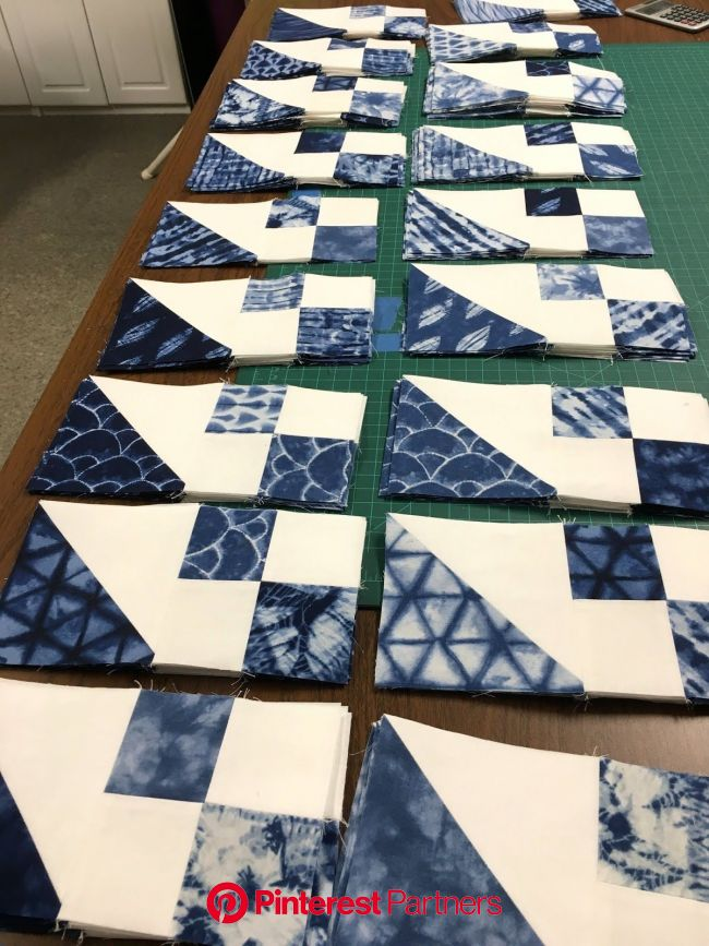Jewel Box Quilt Shibori Style (#102) | Jellyroll quilts, Easy quilt patterns, Two color quilts