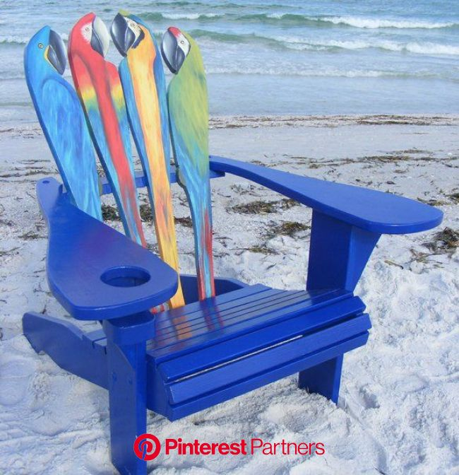 Very Jimmy Buffet, but I don't think I can do this. | Painted chairs, Chair design, Outdoor chairs