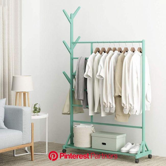 WYQSZ Vertical Bamboo Garment Rack, Floor Home Clothes Rack Bamboo Racks Bedroom Simple Storage Shelf Bag … | Clothing rack bedroom, Clothing rack, Di