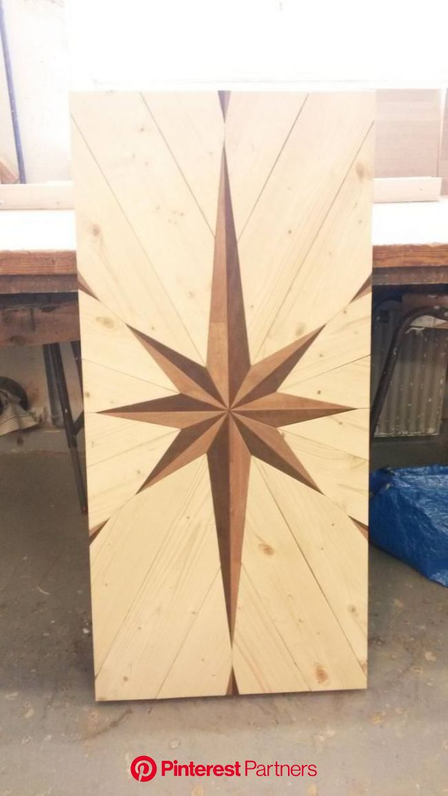 A table I made with a star thing - creativity post | Wood diy, Wood floor pattern, Wood projects