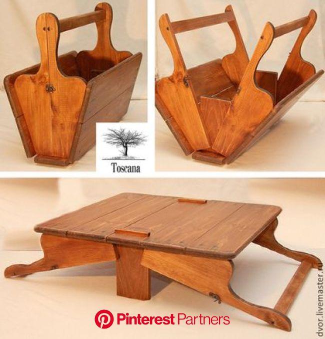 Ярмарка Мастеров - ручная работа, handmade | Деревянные проекты, Стол для пикника, В лес