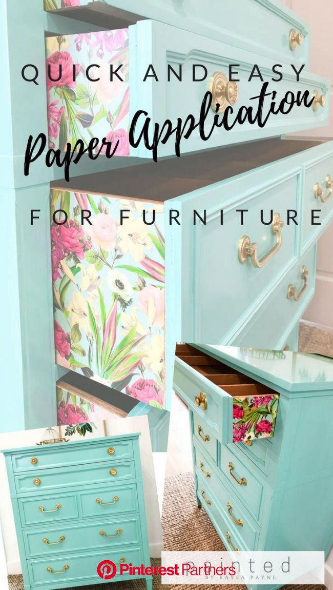 Quick and Easy Paper Application For Furniture. Step by Step Tutorial   Easy home decor, Furniture makeover, Painted furniture