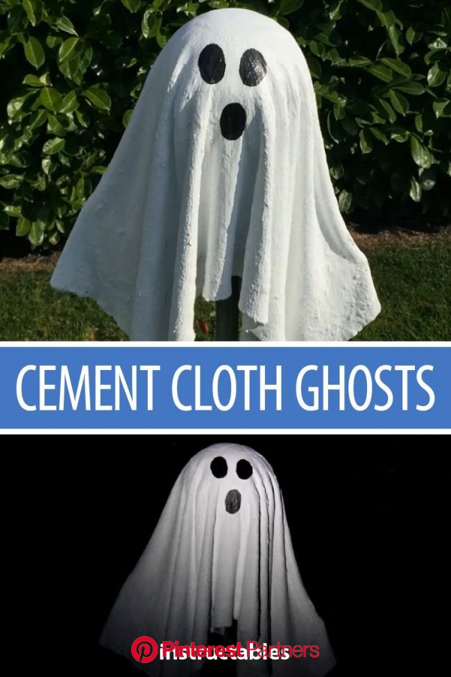 Cement Cloth Ghosts !! | Halloween ghost yard decorations, Halloween outdoor ghost, Cheap diy halloween decorations