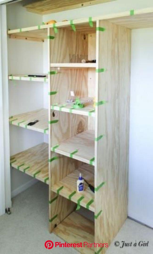 Image of: 36 Ideas Walk In Closet Small Diy Layout Shelves Diy Closet Small Closet Organization Diy Storage Closet Shelving Closet Remodel Wood Decor 2019 2020