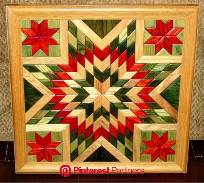 Arte de pared de madera edredón edredón de por TreeLineWoodProducts | Wood quilt block, Barn quilt designs, Painted barn quilts