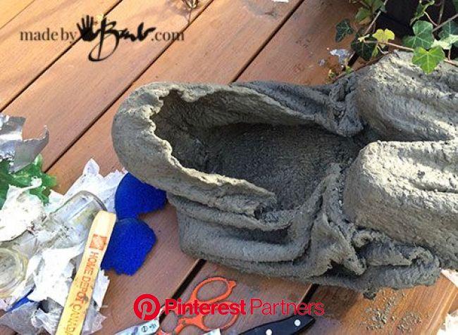 Concrete Lighted Step-Spook madebybarb draped concrete | Concrete light, Concrete crafts, Concrete diy