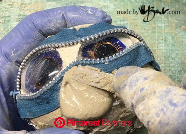 Rock Eye Peepers - Made By Barb - concrete stones that look back at you | Concrete stone, Jeepers creepers, Creepers