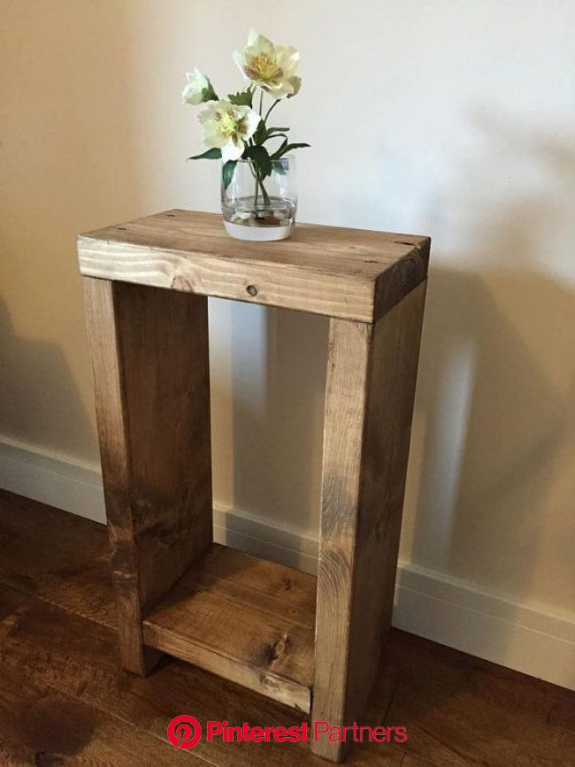 Rustic Lamp/End/side table, Chunky, Hand made, Solid, Oak finished Pine, Country, FREE POSTAGE in ENGLAND. (mk1) (With images) | Rustic furniture, Dec