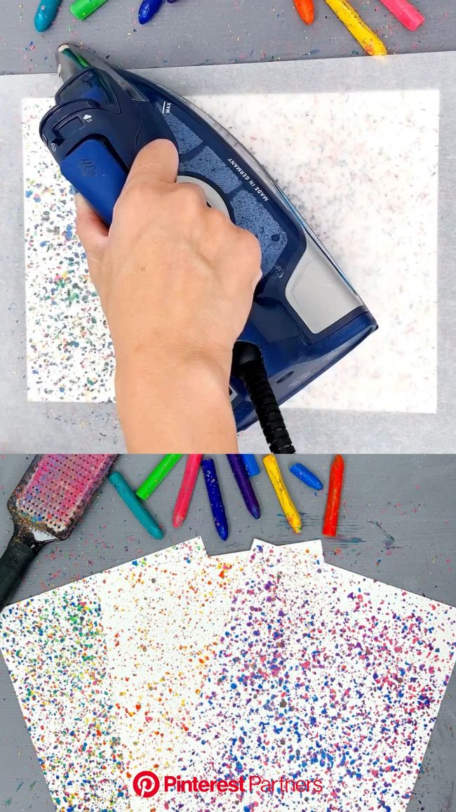 How to Make Melted Crayon Art [Video] [Video] | Crayon art melted, Creative crafts, Crayon art