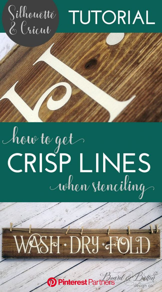 How To Get Crisp Lines When Stenciling With Vinyl | Cricut stencils, Stencils for wood signs, Sign stencils