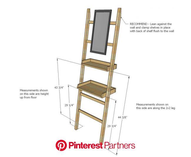 Leaning Vanity or Dropzone | Diy furniture projects, Diy vanity, Diy furniture plans