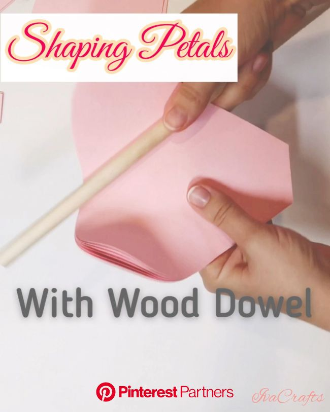 Easy way to shape paper petals using wood dowel!  #decor #paper #papercrafts #paperart #tutorial #diy #ho… [Video] | Large paper flowers, Paper flower