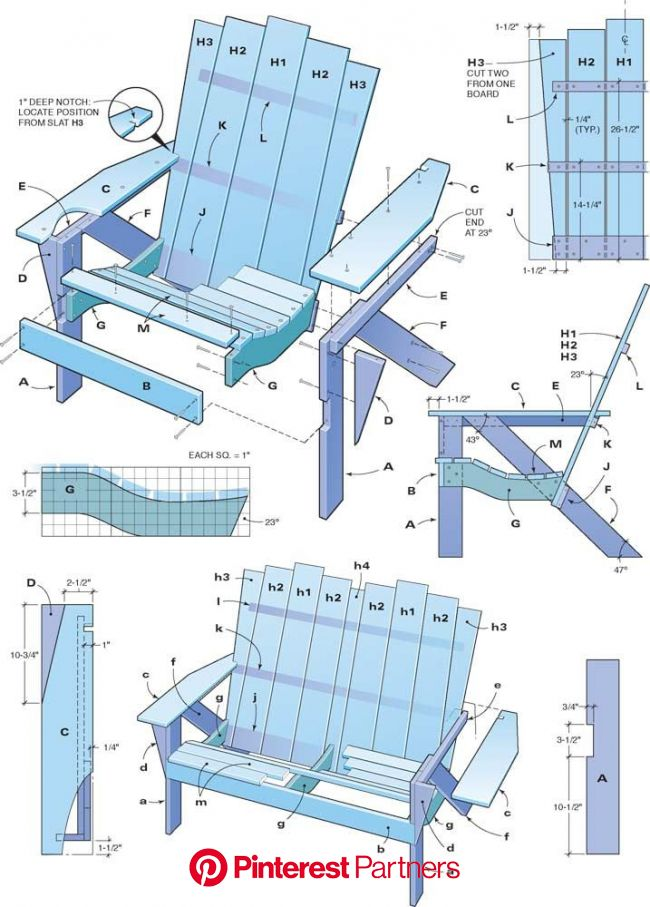 How to Make an Adirondack Chair and Love Seat | Diy plans, Furniture projects, Woodworking plans