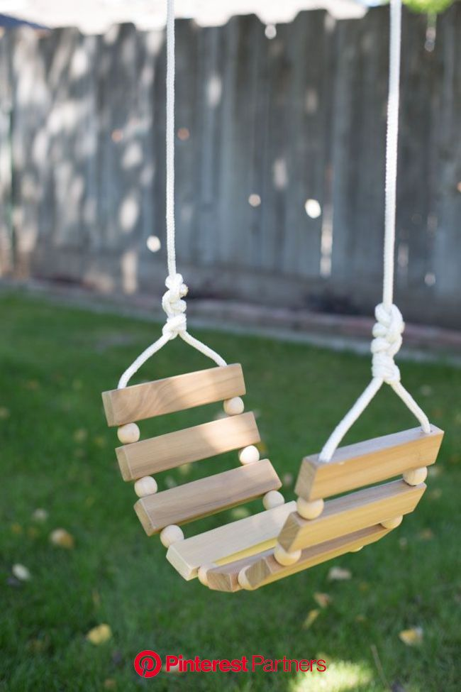DIY Tree Swing for Kids & Adults | Woodworking projects, Diy woodworking, Beginner woodworking projects