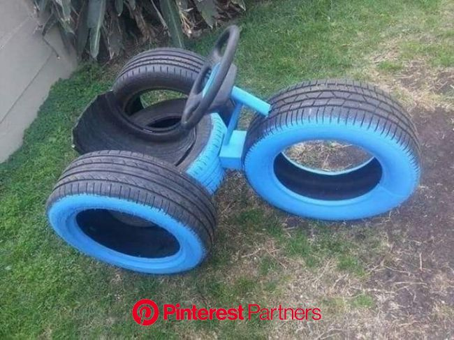 Unique Ways To Recycle Old Tires Into Something Amazing<br /> To see more Read it???? | Kids garden play, Kids backyard playground, Tire playground