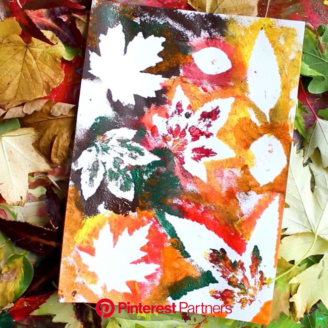 Autumn Leaf Painting [Video] | Leaf art, Autumn art, Tree art
