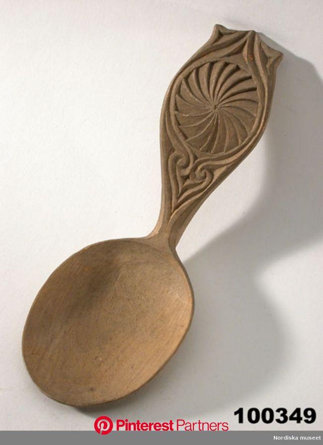 Sked - Nordiska museet / DigitaltMuseum | Wood spoon carving, Carved spoons, Wooden spoon carving