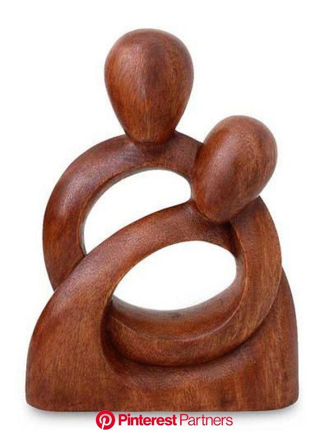 Wood sculpture, 'Eternity of Love' in 2021 | Wood sculpture, Wood carving art, Art carved