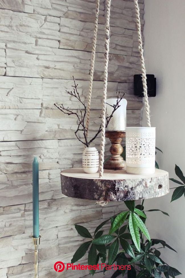 Impressive DIY Hanging Shelves in 2020 | Diy hanging, Diy home decor, Craft box