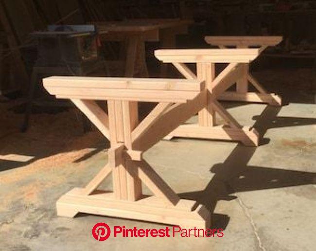 Farmhouse Trestle Table DIY Kit  Made to Order   Etsy in 2021   Diy farmhouse table, Wood table diy, Diy table