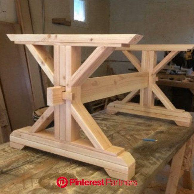 Farmhouse Trestle Table DIY Kit  Made to Order | Etsy in 2021 | Diy table, Farmhouse table plans, Trestle table