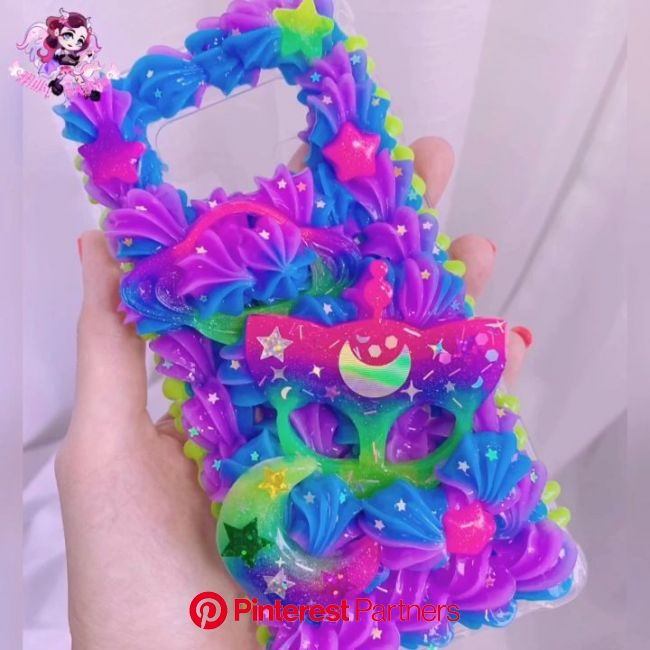 Watch Me Decoden Neon Space Phone Case [Video] | Diy phone case, Kawaii phone case, Diy phone