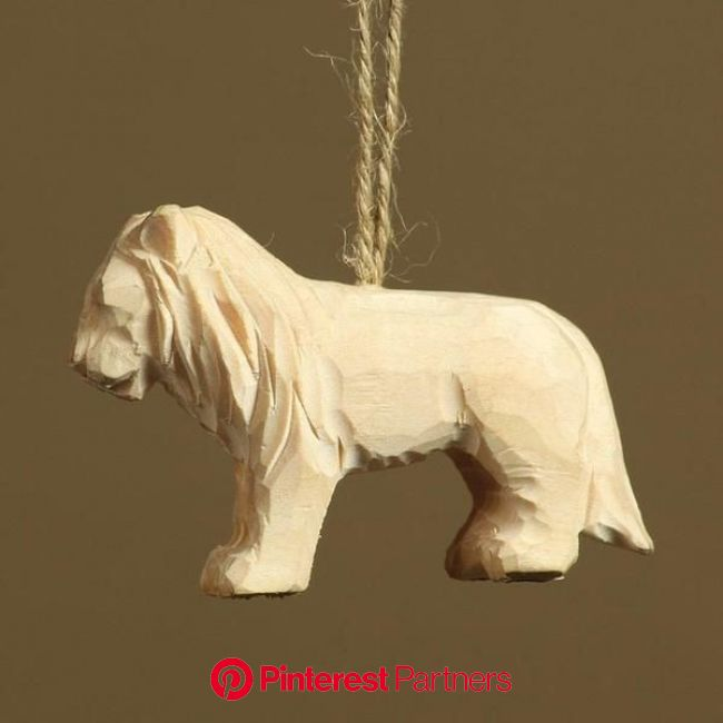 HomArt Carved Wood Ornament - Lion - Set of 8 in 2021 | Wood carving for beginners, Wood carving designs, Wood ornaments