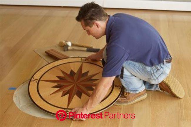 How to Install a Floor Medallion | Floor medallion, Inlay flooring, Wood floors