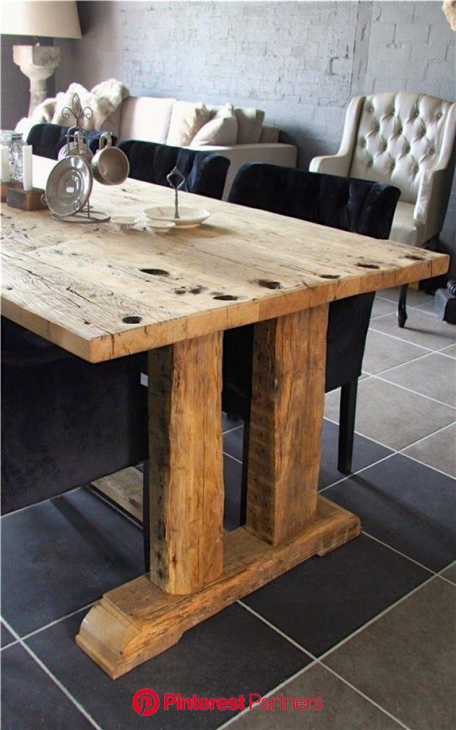 10x mooie eettafels - De Wemelaer | Brocante eettafels, Rustiek meubilair, Boeren tafels