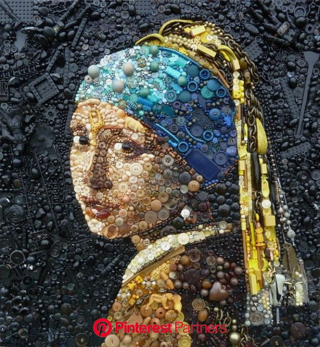 9 Stunning Portraits Made With Found Objects | Upcycled art, Junk art, Contemporary portrait