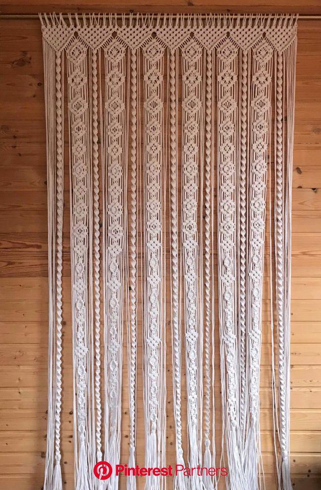 Macrame Curtain/ Macrame Panels/Door curtain/ Room Divider/ | Etsy | Macrame wall hanging patterns, Macrame wall hanging, Macrame curtain