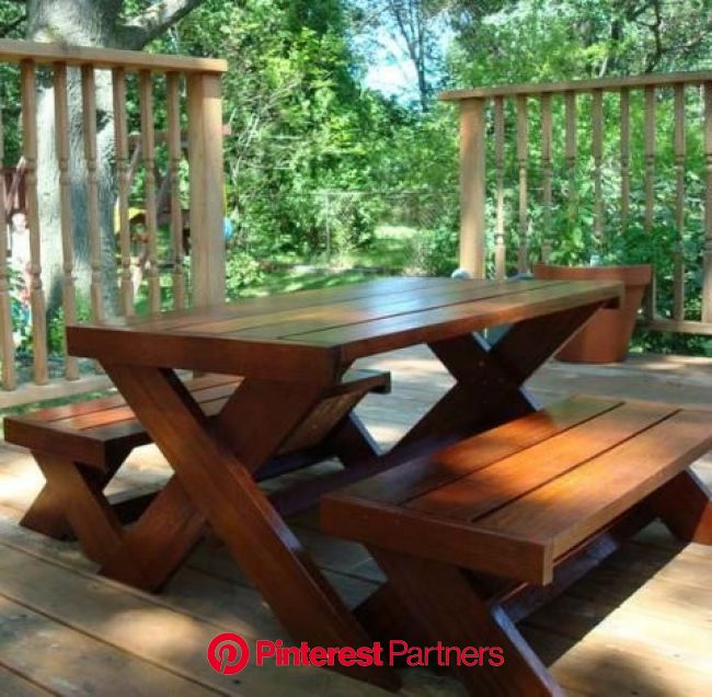 Build A Modern Kid's Picnic Table, or X Benches | Kids picnic table, Kids picnic table plans, Picnic table plans